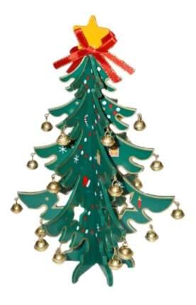 Ель искусственная Новогодняя сказка деревянная с колокольчиками 23 см
