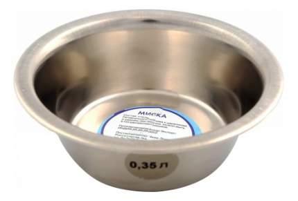 Одинарная миска для собак Аква Энимал, сталь, серебристый, 0.35 л