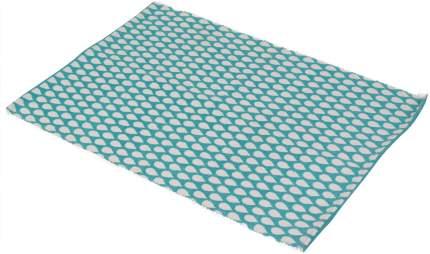 Коврик текстильный Ricotio Капли бирюзовый