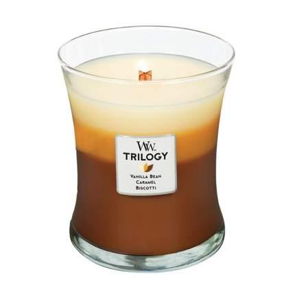 Ароматическая свеча тройная Woodwick 'Сладкий кофе', средняя