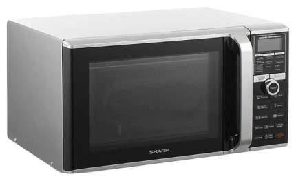 Микроволновая печь с грилем и конвекцией Sharp R-8772N silver/black