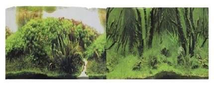 Фон для аквариума Prime Коряги с растениями/Растительные холмы 50х100см
