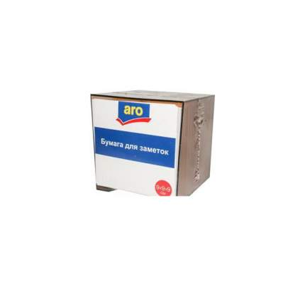 Блок бумаги для заметок Aro Белый в пластиковом корпусе 9х9х9см