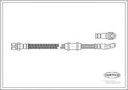 Шланг тормозной Corteco 19018200