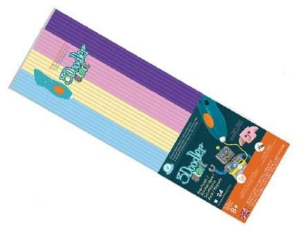 Эко-пластик к 3D ручке 3Doodler 24 шт, 4 цвета