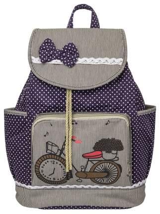 Рюкзак с ручкой для переноски Action! Велосипед мягкий 17 л Фиолетовый/Серый