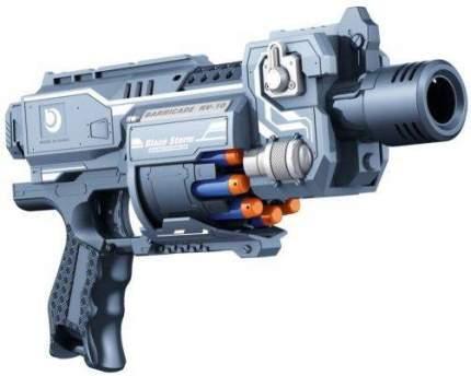 Бластер Наша Игрушка Бластер с мягкими пулями серый пластик ZC7077