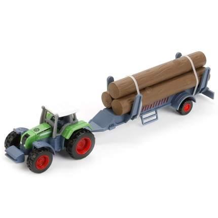 Машинка Технопарк металл, трактор с прицепом 21,5 см