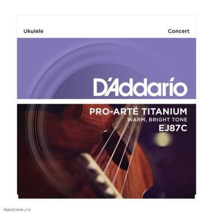 Струны для укулеле концертD ADDARIO EJ87 C