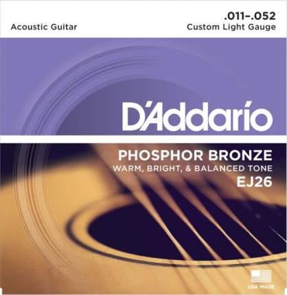 Струны для акустической гитары D ADDARIO EJ26