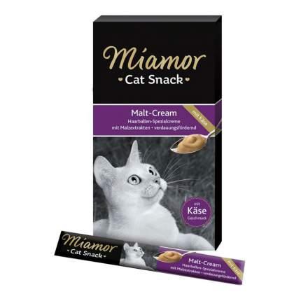 Лакомство для кошек MIAMOR Мальт, крем с сыром, 15г, 6шт