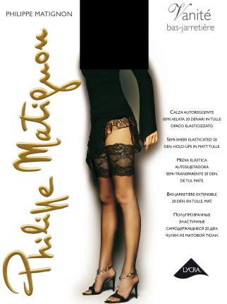 Чулки женские Philippe Matignon M111525PM черные 4