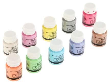 Акриловые краски WizzArt Pastel 10 цветов
