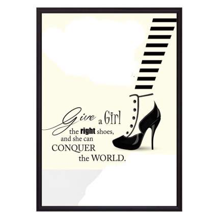Постер в рамке Модная обувь 30 х 40 см Дом Корлеоне