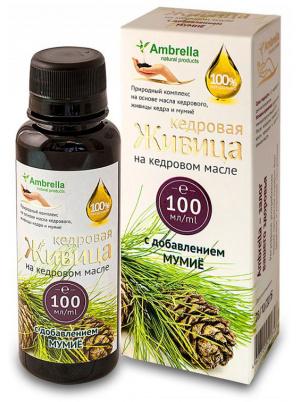 Живица кедровая Ambrella 30% на кедровом масле с мумиё 100 мл