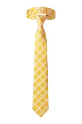 Классический галстук Лотерея в Вавилоне в мелкий квадрат Signature 204376 желтый