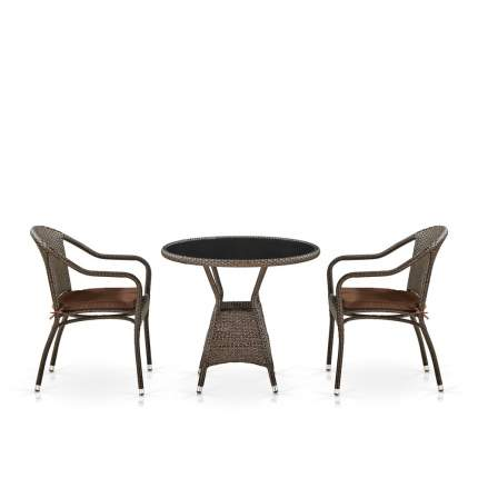 Комплект  плетеной мебели Afina  T707ANS/Y480A-W53 Brown 2Pcs