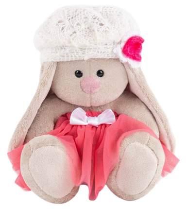 Зайка Ми в розовой юбке с белым беретом (малыш) 15 см