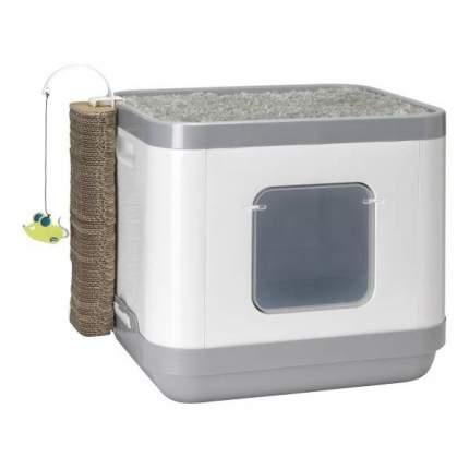 Туалет для кошек MODERNA Cat Concept, прямоугольный, серый, 40х48х43 см