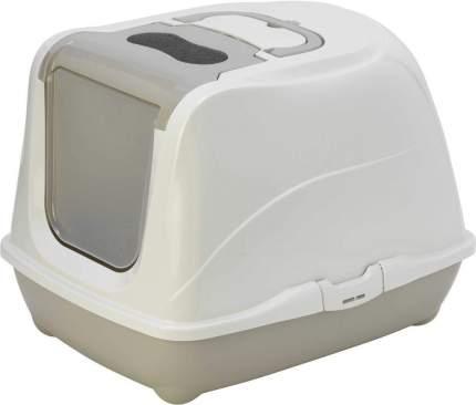 Туалет для кошек MODERNA Flip Cat, прямоугольный, серый, 58х45х42 см