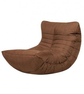 Кресло бескаркасное Папа Пуф Cocoon Chair Chocolate, размер L, рогожка, коричневый