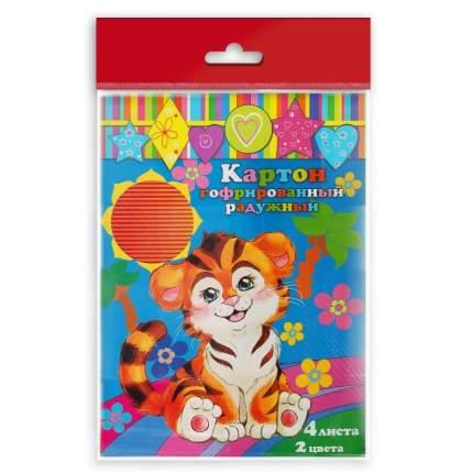 Картон цветной Феникс+ арт. 33996/50 гофрированный радужный