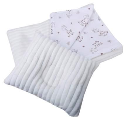 Комплект в коляску Bambola молочный плед + подушка фигурная