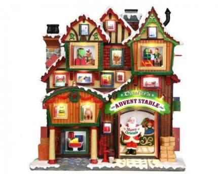 Lemax Фасад Отсчет до Рождества, 27*26 см, подсветка, батарейки 35561