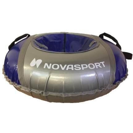 Тюбинг NovaSport 125 см усиленный тент с камерой СН051.125.3.1 серый синий