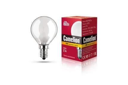 Лампа накаливания Camelion шар матовый 60W E14