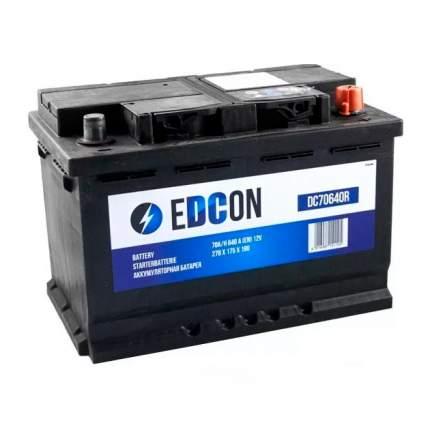Dc70640r_аккумуляторная Батарея! 70ah 640a   Справа 278х175х190 B13 EDCON