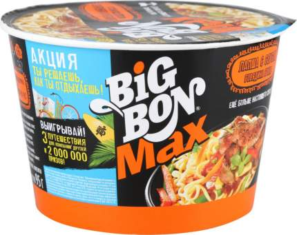 Лапша быстрого приготовления BigBon с соусом говядина гриль 95 г
