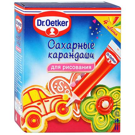 Сахарные карандаши Dr.Oetker для рисования украшения десертов 76 г