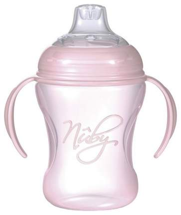 Поильник Nuby No-Spill с носиком-непроливайкой и съемными ручками 240 мл Розовый