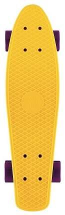 "Скейтборд Y-Scoo Big Fishskateboard 27"" 402-Y с сумкой Yellow Dark purple"