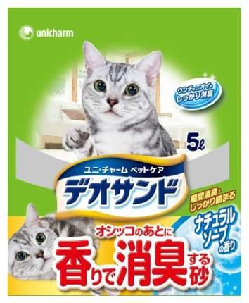 Впитывающий наполнитель для кошек UNICHARM бентонитовый, мыло, 2.3 кг, 5 л