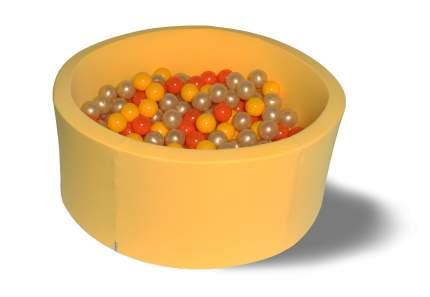 Сухой игровой бассейн Желтое золото желтый 40см с 200 шарами: желт, оранж, золот