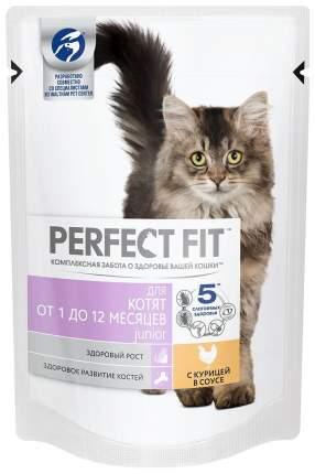 Влажный корм для котят Perfect Fit Junior рагу с курицей, 24 шт по 85г