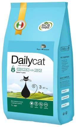 Сухой корм для кошек Dailycat Senior, для пожилых, курица с рисом, 3кг