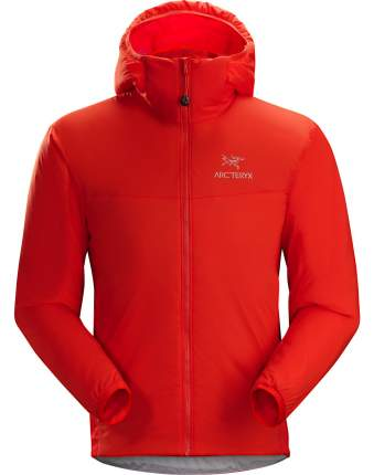 Спортивная куртка мужская Arcteryx Atom LT Hoody, hard coral, S
