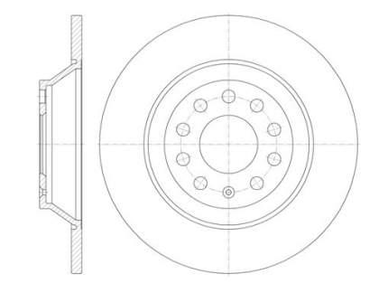 Тормозной диск Remsa 6969.00