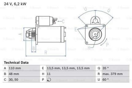 Стартер Bosch 0 986 021 200