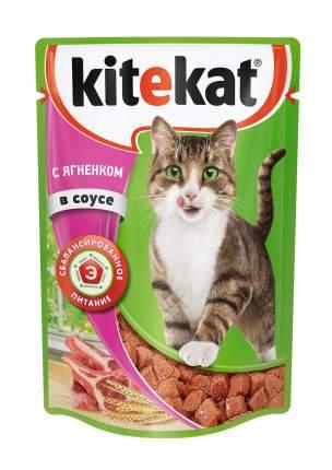 Влажный корм для кошек Kitekat с ягненком в соусе, 28 шт по 85 г