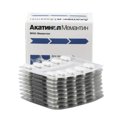 Акатинол Мемантин таблетки 10 мг 90 шт.