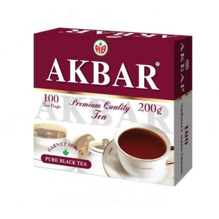 Чай черный Akbar гранатовая серия 100 пакетиков