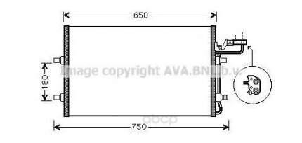 Pадиатор кондиционерa Volvo C30, S40, V50 03 Ava VO5140