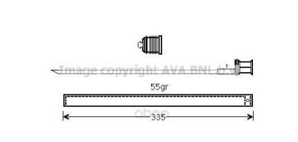 Радиатор кондиционера автомобильный Ava MSD601