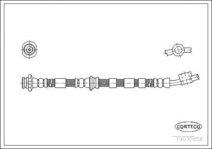 Шланг тормозной CORTECO 19032856