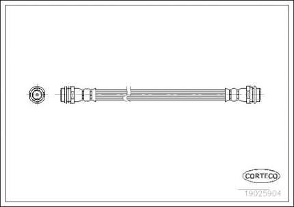 Шланг тормозной CORTECO 19025904