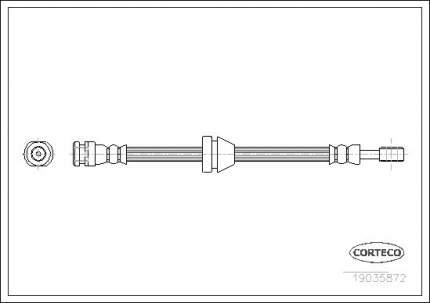 Шланг тормозной системы CORTECO 19035872